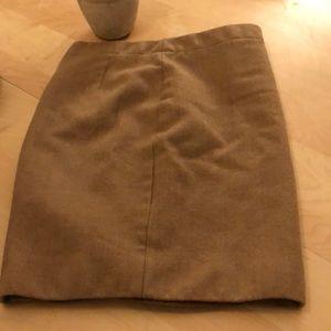 J.Crew wool tan pencil skirt